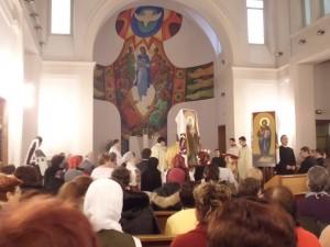 La celebrazione della messa