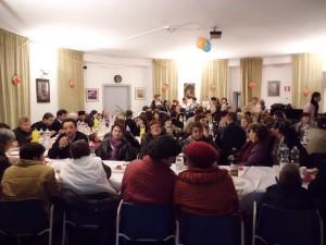 Il pranzo ospitato in una delle due sale