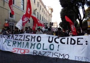 Manifestazione antirazzista 14 gennaio 2012