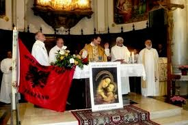 Fedeli albanesi a Trastevere