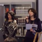 Gabriella Sanna presenta la vincitrice del concorso Sara Robabeh Djelveh