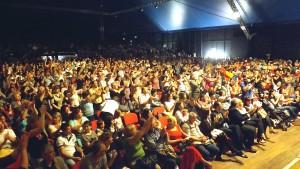 Il pubblico al concerto Romit tv
