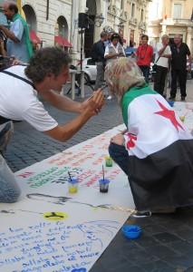Manifestazione per la Siria