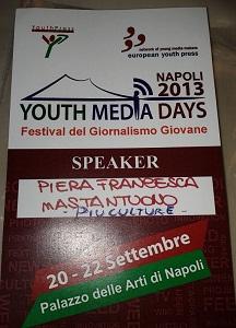 Festival del giornalismo giovane - Youth media days 2013
