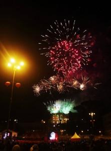 Fuochi d'artificio in chiusura