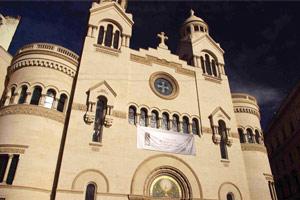 La facciata del tempio Valdese di Piazza Cavour
