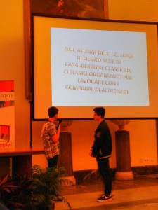 Presentazione della Di Liegro affidata a due dei loro studenti