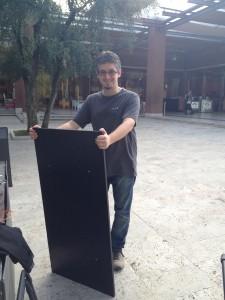 Marco Caporaletti e il piano del tavolo