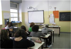 Una classe della scuola Winckelmann