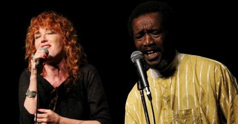 Fiorella Mannoia e Gabin Dabiré, foto: http://roma.repubblica.it/