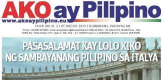Ako Ay Pilipino: il giornale dei filippini in Italia