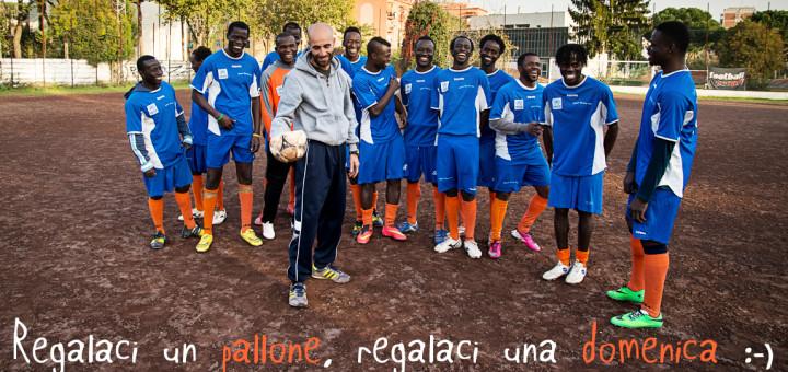 La squadra di calcio della Liberi Nantes