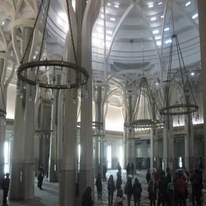 Interno della grande moschea di Roma