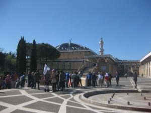 Esterno della moschea di Roma