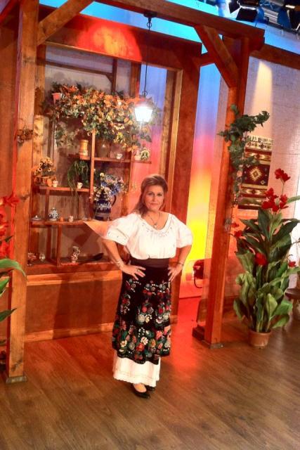 Rodica Chircu durante una trasmissione televisiva