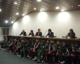 Presentazione allo stadio Olimpico della rete del Calcio Solidale