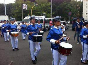 Sfilata di una delle associazioni partecipanti alla Festa Nazionale delle Filippine che si è svolta a Roma lo scorso 14 giugno
