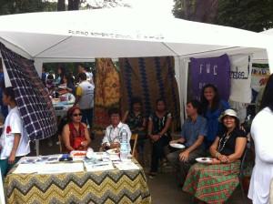 Stand dell'associazione Filipino Women's Council