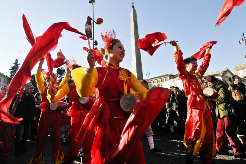 Roma, inizio del Capodanno Cinese 2014