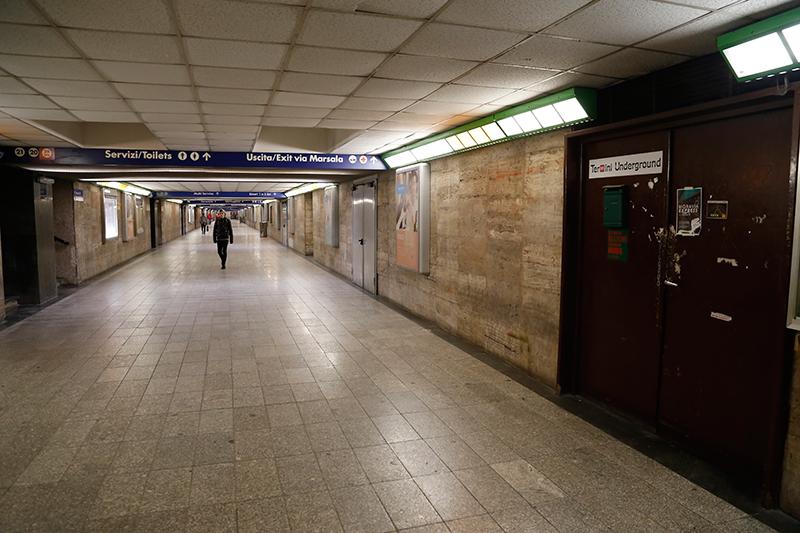 Ingresso di Termini Underground, sottopasso binario 24 - foto di Alessandra Cerioni