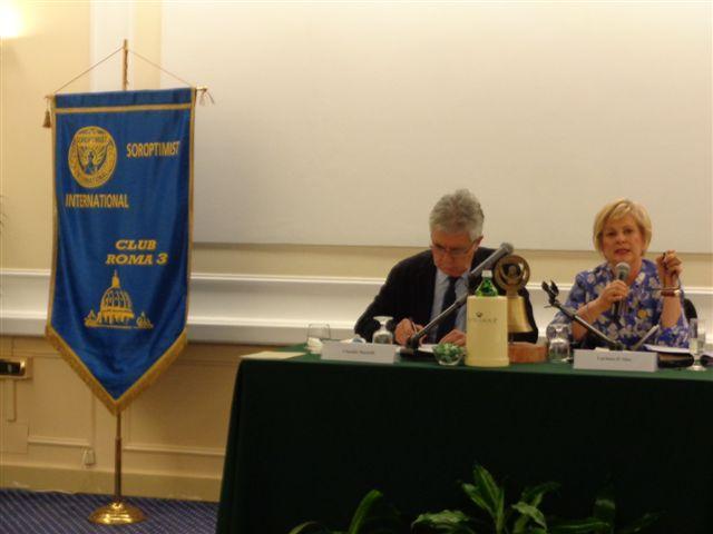 Il presidente della Fondazione Opera Onlus Martelli e Lucia D'Aleo Presidentessa Club Roma Tre