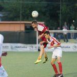 al Mundialdio torneo di calcio per stranieri a Roma l'incontro tra Romania e Perù