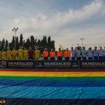 La finale del Mundialido 2016 torneo di calcio per stranieri a Roma tra Ucraina e Capo Verde