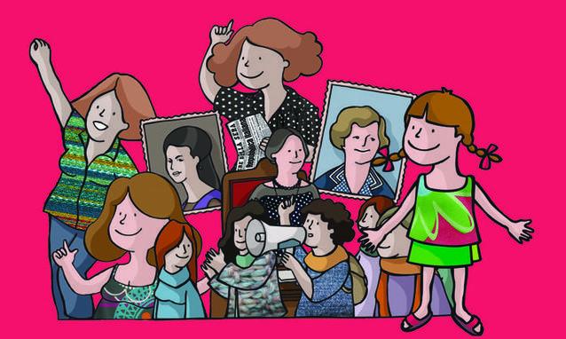 """Dalla copertina di """"Nina e i diritti delle donne"""" di Cecilia D'Elia"""