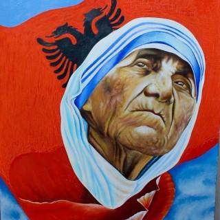 Madre Teresa di Calcuta - Dipinto di Bashkim Duma
