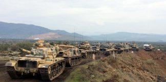 Carriarmati turchi al confine con la Siria(foto TRTWorld)