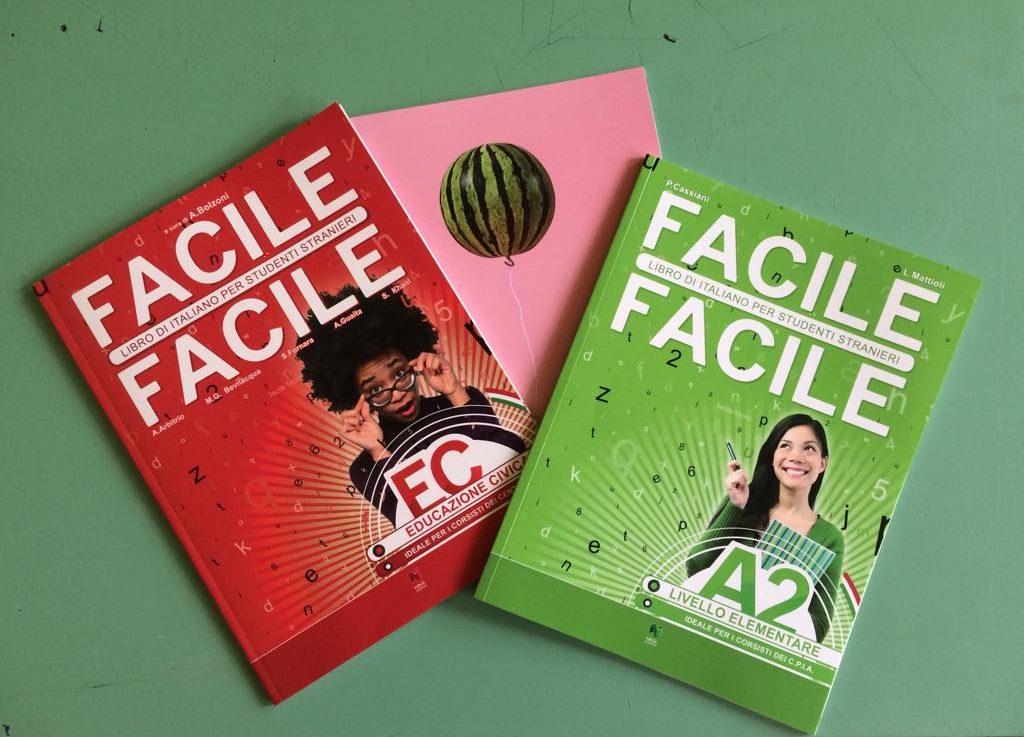 libri di testo scelti dalla referente come supporto al corso di italiano per adulti