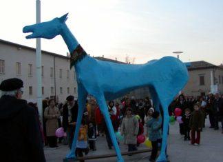 Scultura di cavallo per il centro Basaglia a Trieste