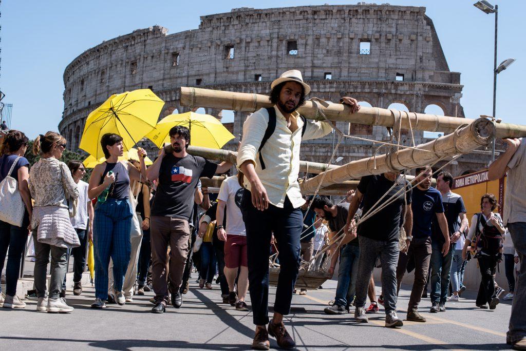 Marco Passaro- Camminata per la cittadinanza interplanetaria