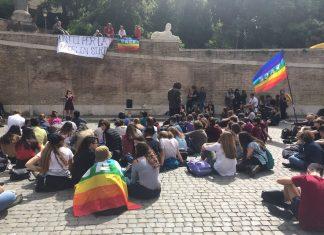 Manifestazione del Liceo Vittorio Colonna per la pace in Siria