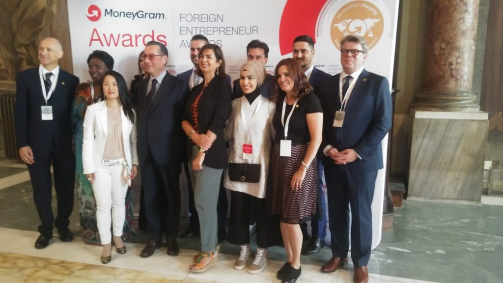 I finalisti dei MoneyGram Awards con Massimo Canovi e Laura Boldrini