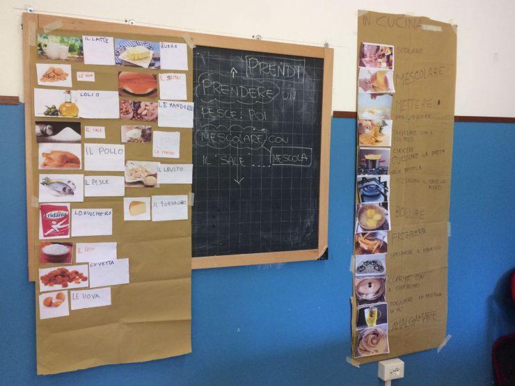 Lista degli ingredienti e verbi utilizzati per creare il ricettario
