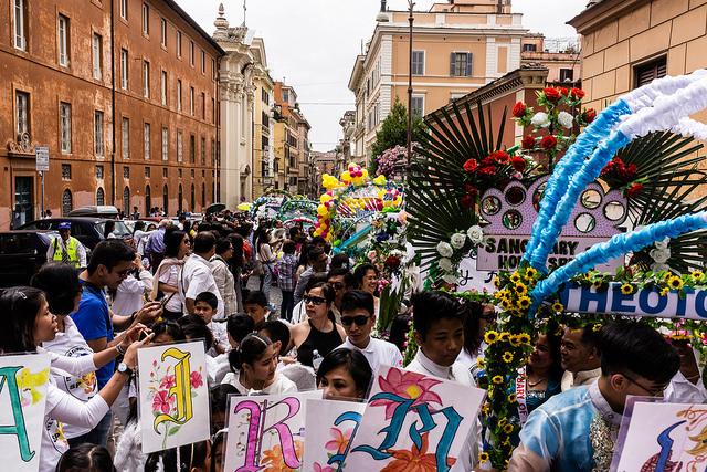 Festa Flores de Mayo Roma, foto di Adamo Banelli