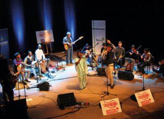 Orchestra dei braccianti sul palco