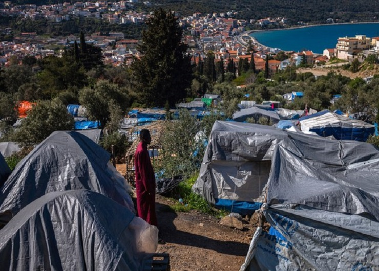 campo profughi a Samos - fonte the new yorker