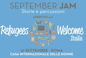 27.09: September Jam - Storie e percussioni. Aperitivo con Refugees Welcome