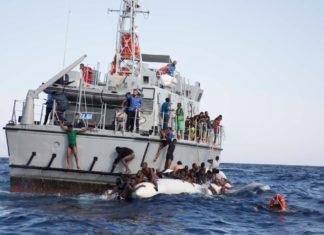 Guardia Costiera Libica in azione