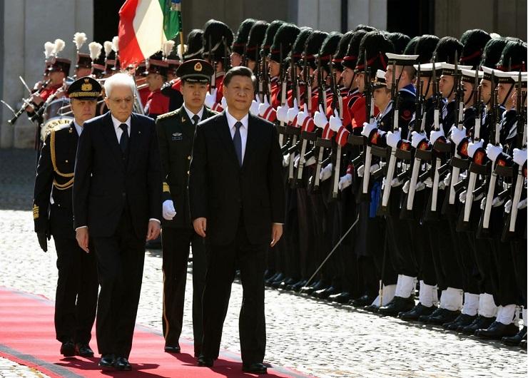 Mattarella riceve Xi Jinping, marzo 2019