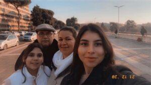 Uno scatto di Josè e la sua famiglia