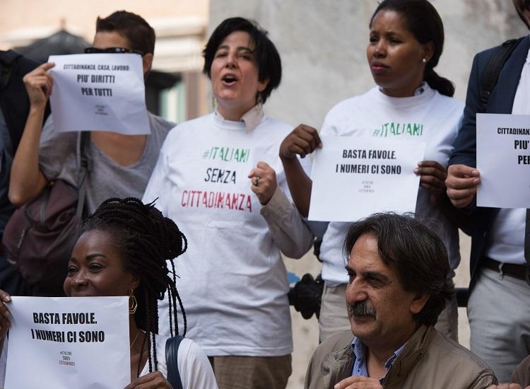 Manifestazione per il diritto di cittadinanza a Roma