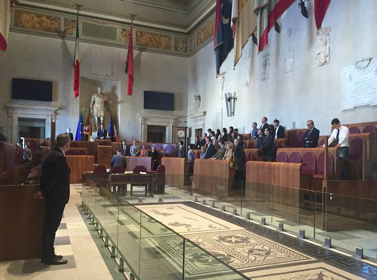 L'aula del Consiglio comunale di Roma
